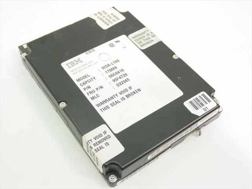 """IBM 95F4728  170MB 3.5"""" IDE Hard Drive - WDA-L160"""