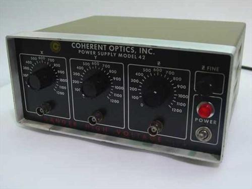 Coherent Optics 42  1.2 kV Power Supply - Triple Output