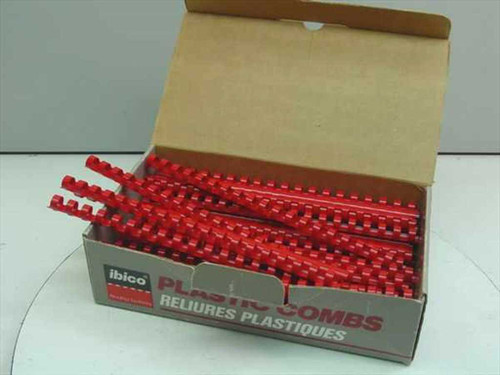 "Ibico 15127  1/2"" Red Plastic Binding Combs - 72 pcs"