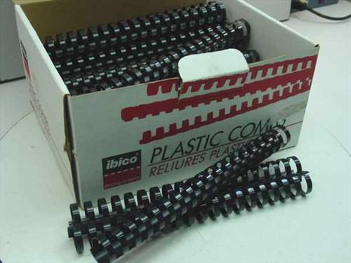 "Ibico 15222  1"" Black Plastic Binding Combs - 47 pcs"