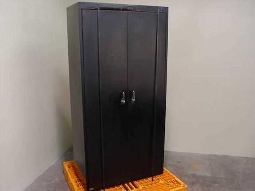 Vertical Storage Cabinet  2 Door Steel Storage Cabinet 2- Shelves