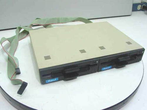 "EI-EN Electronics Super 5  Dual 5.25"" Floppy Drive for Apple II Series"