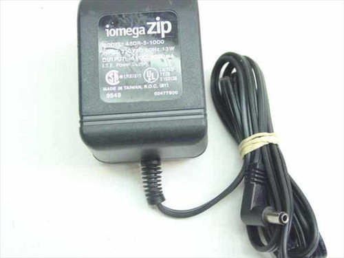 ITE 48DR-5-1000  AC Adapter 5VDC 1A Iomega External Zip Drive