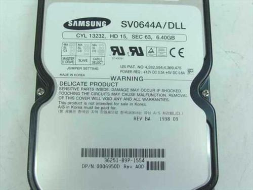 """Samsung SV0644A/DLL  6.4GB 3.5"""" IDE Hard Drive"""