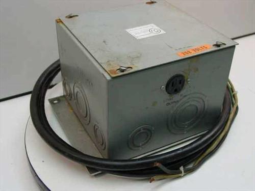 UNK none  Step-down Transformer 240>117 60Hz.