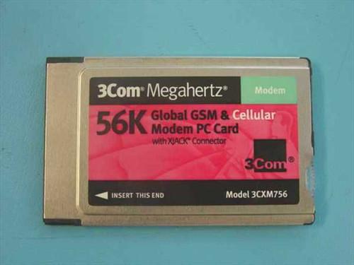 3COM 3CXM756  56k Global GSM & Cellular Modem PCMCIA Card