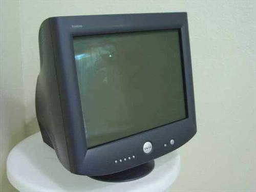 "Dell P1130  21"" Black Monitor Flat Tube 2048x1536 CRT - Front"