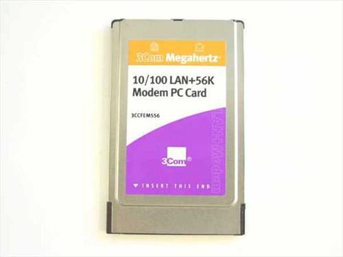 3COM 3CCFEM556  10/100 LAN&56K Modem PCMCIA Card