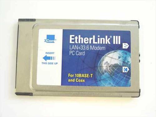 3COM 3C562C/3C563C  33.6K PCMCIA Combo Eithernet Modem
