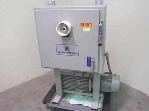 Leybold-Heraeus D60A  Trivac Rotary Vane Vacuum Pump w/Breaker Box