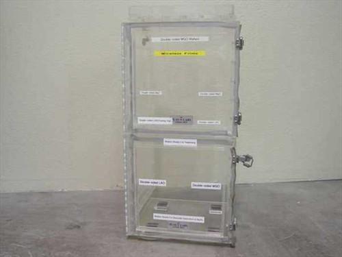 Plas Labs Dry Box  Acrylic Desiccator Cabinet 24 x 12 x 13
