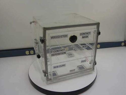 Plas Labs Dry Box  Acrylic Tabletop Desiccator 12 x 12 x 12