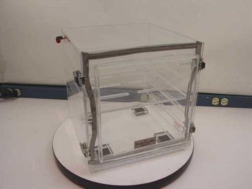 Plas Labs Dry Box  Acrylic Tabletop Desiccator 13 x 12 x 13
