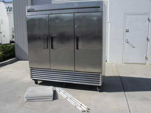 True Manufacturing Company T-72F  72 CF Reach In Freezer - 3-Door Stainless