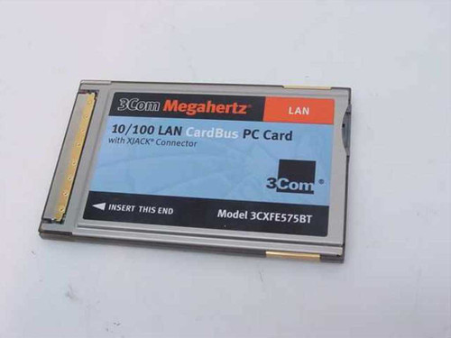 3COM 3CXFE575BT  Megahertz 10/100 Lan Cardbus PC Card with Xjack