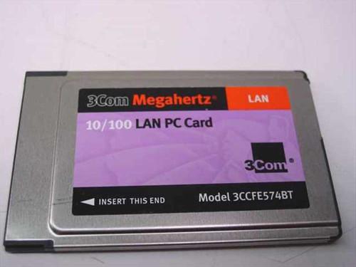 3COM 3CCFE574BT  Megahertz 10/100 Lan Cardbus PC Card