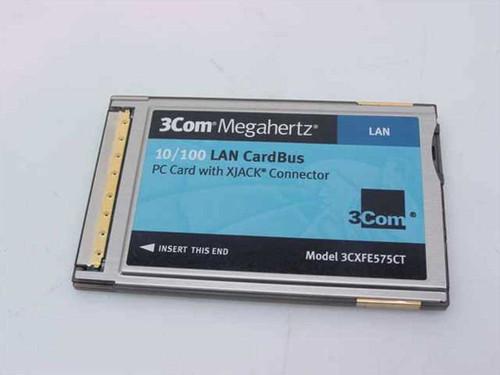 3COM 3CXFE575CT  Megahertz 10/100 Lan Cardbus PC Card with Xjack