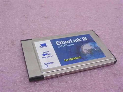 3COM 3C589D-TP  EtherLink III Lan PC Card - PCMCIA for 10Base-T