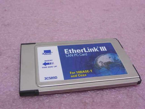 3COM 3C589D  EtherLink III Lan PC Card - PCMCIA for Coax and 10