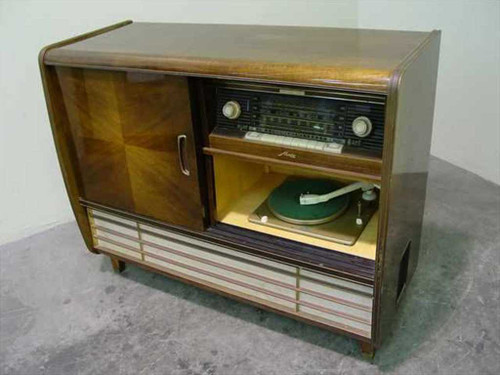 Metz 1510  AM FM SW Tube Stereo Console w/Rex Turntable