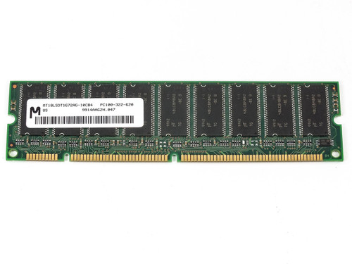 Micron 128MB 168 Pin PC100 Double-Banked ECC SDRAM DIMM (MT18LSDT1672AG)
