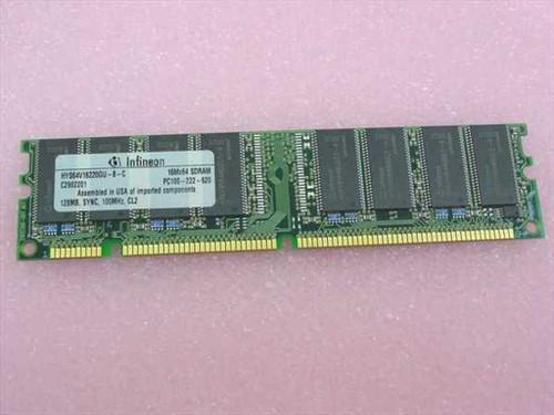 Infineon 128MB 168 Pin PC100 SDRAM Memory (HYS64V16220GU)