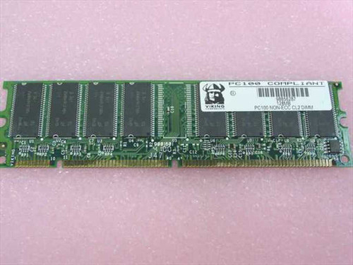Viking 128MB 168 Pin PC100 SDRAM Memory (PC100 NON-ECC CL2 DIMM)