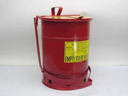 Justrite 09110   Oily Waste Container - 6 Gallon w/Foot Pedal
