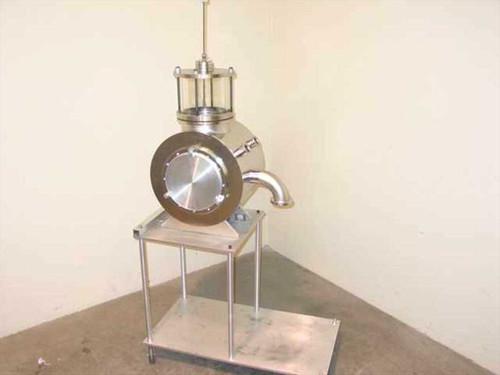 "Research Vacuum Chamber  10"" x 16"" Dia w/RF Ports & Chamber w/Wobble Stick"