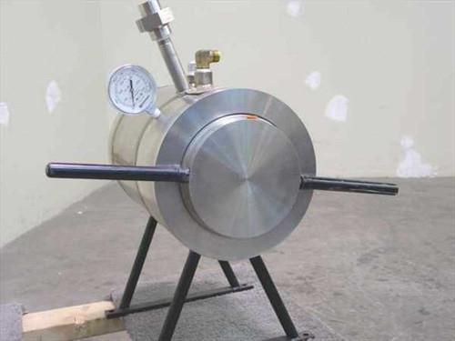"Fluitron Pressure Chamber  3000 PSI 9"" x 6"" Dia w/Gauge - Viewport"