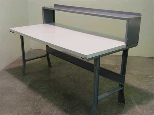 "Edsal 36x72x34""H  Tech Bench - Laminate Top w/Riser Shelf"