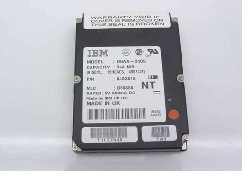 IBM 84G3015  344MB Laptop Hard Drive-DHAA-2405