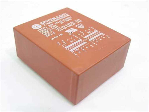 Spitznagel 0.60 Amp at 15 Volts Encapulated Power Transformer D 78609