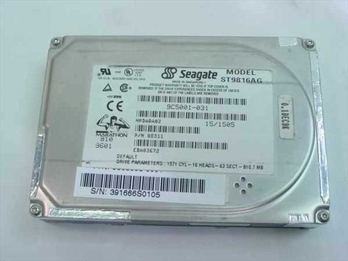 Seagate ST9816AG  810.7MB Laptop Hard Drive