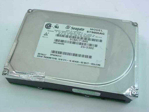 Seagate ST9655AG  524.4MB Laptop Hard Drive