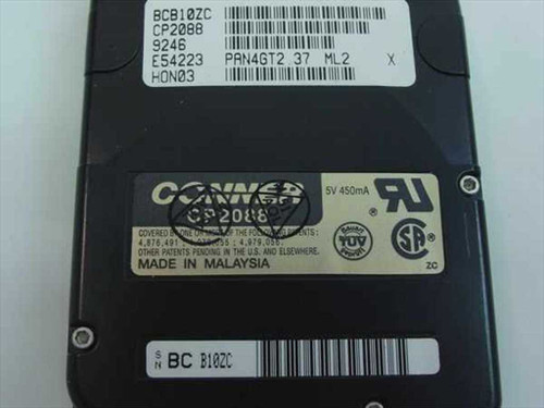 Conner CP2088  88 MB Laptop Hard Drive