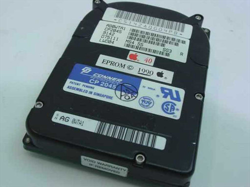 Conner CP2045  40MB SCSI Apple Laptop Hard Drive