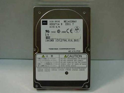 Toshiba MK1403MAV  1443MB Laptop Hard Drive