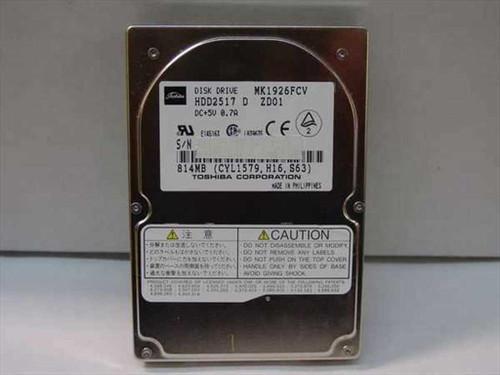 Toshiba MK1926FCV  814MB Laptop Hard Drive