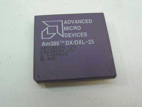 AMD A80386DXL-25  Am386 DX/DXL-25 Vintage 386 25 Mhz Processor