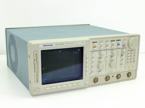 Tektronix TDS520C 500MHz Two Channel Digitizing Oscilloscope Digital Screen