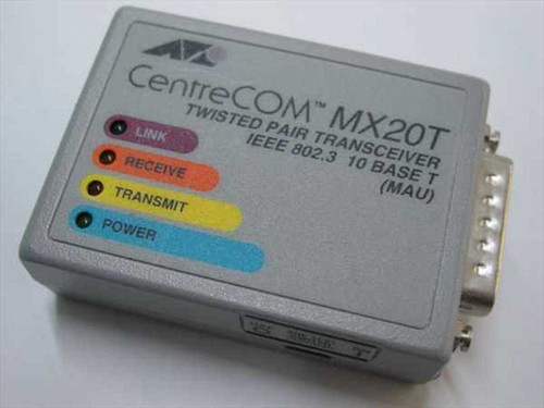 Allied Telesis AT-MX20T  Twisted Pair Transceiver IEEE 802.3 10 Base T (MAU