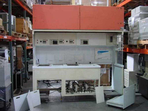 Micro Air Semiconductor Work Station  8' Wet Bench w/Laminar Flow Hood & Sinks