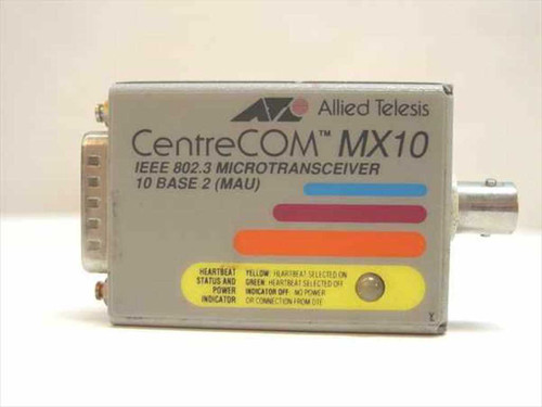 Allied Telesis AT-MX10  CentreCom IEEE 802.3 Micro Transceiver 10 Base 2