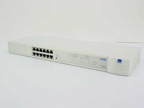 3COM 3C16405  Superstack II PS Hub 40 12 Port 10 BaseT - 1640-51
