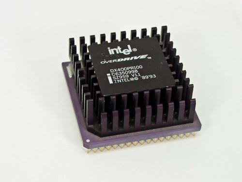 Intel DX40DPR100  Intel Overdrive Processor 486 100 Mhz