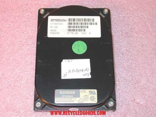 """Conner CP30254H  250MB 3.5"""" IDE Hard Drive"""