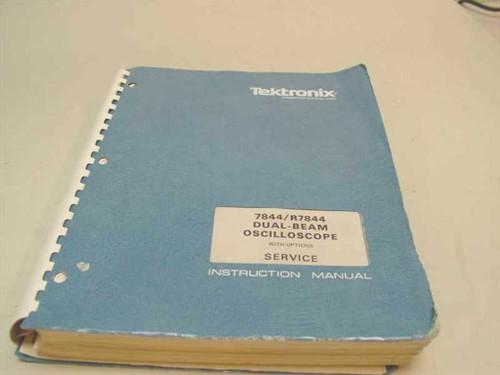 Tektronix R7844  Dual-beam Oscilloscope Instuction manual
