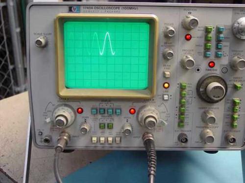 Hewlett Packard 1740A  HP 100 MHz Oscilloscope Dual Trace