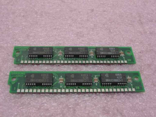 Samsung KMM591000CN-7  1MX9 30 pins 70ns Memory Ram Kit (2x1M)